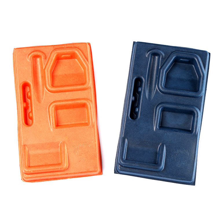 Electronics paper antistatic tray colored inner molded pulp packaging
