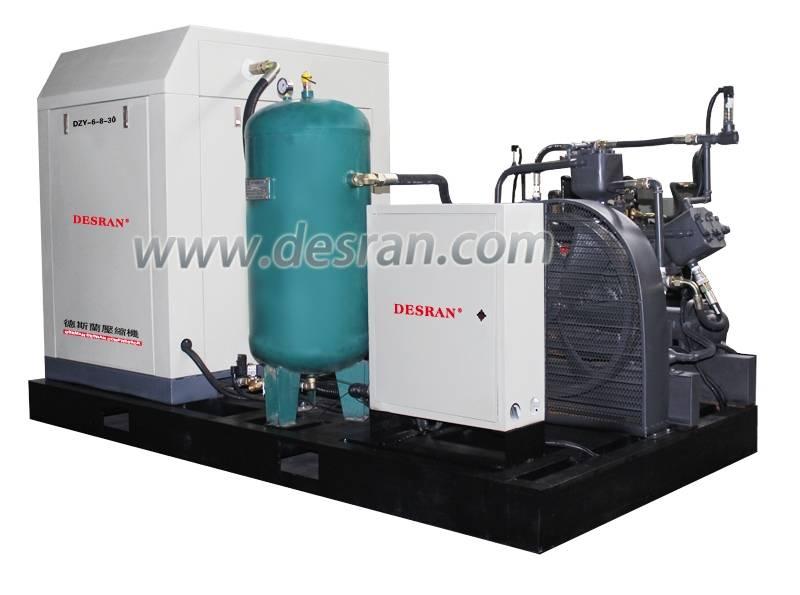 high compact portable rotary screw air compressor