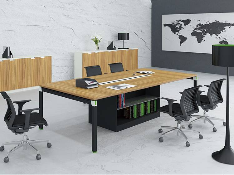 Office staff desks workstation high partitions office desk in public office area