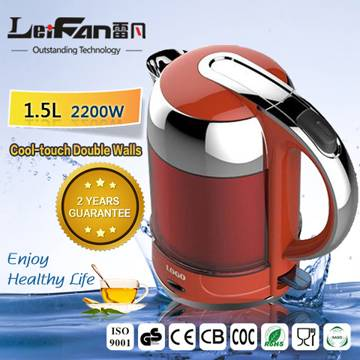 LED light on housing cool touch water kettle