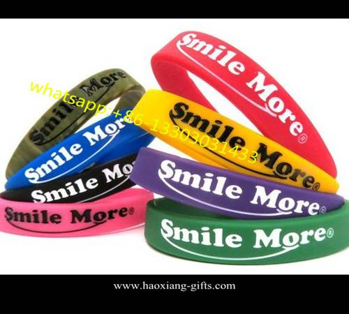 Advertising Top Quality Cheap Silicone Bracelet With Screen Printing logo
