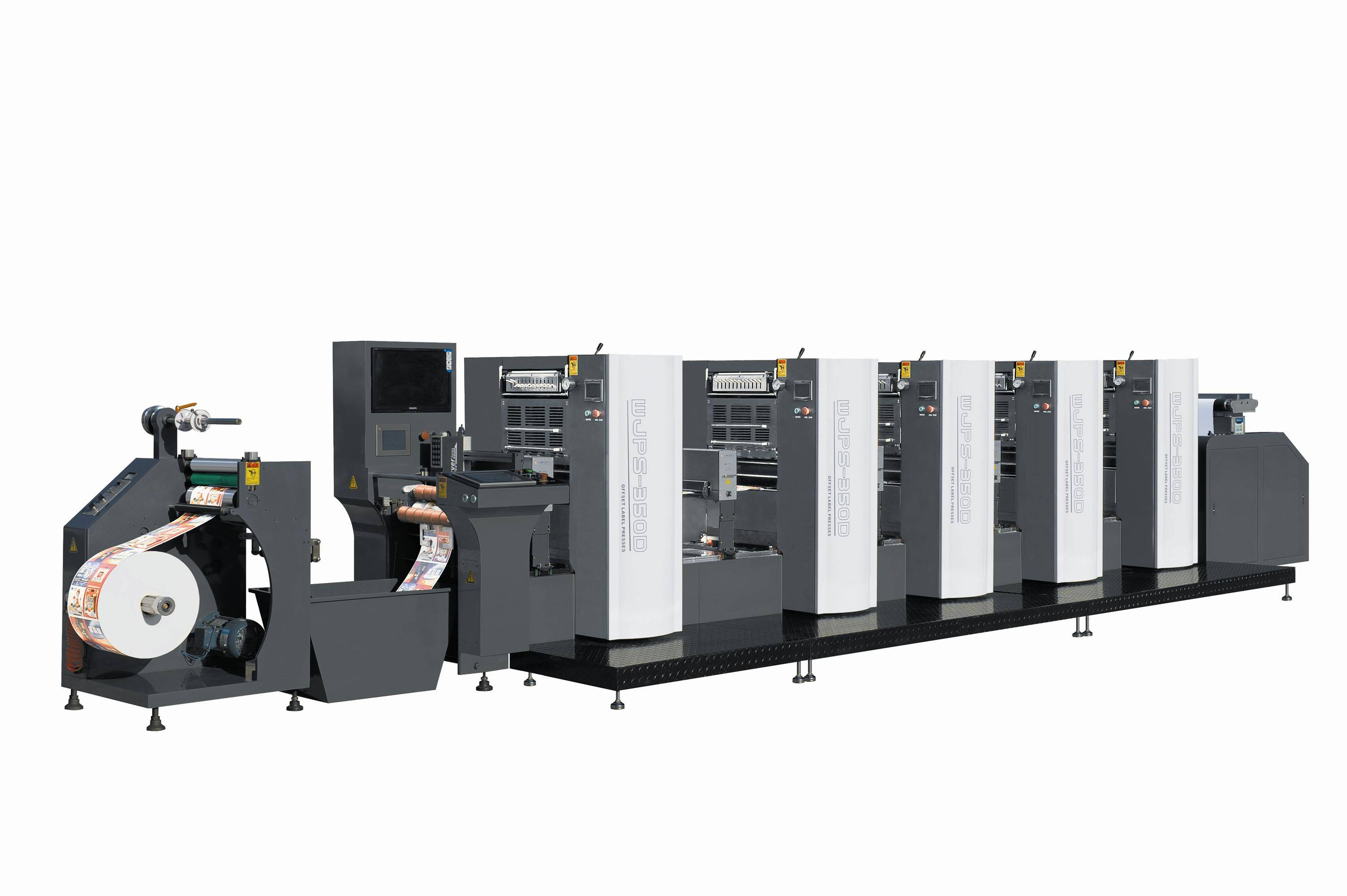 WJPS-350 Shaftless Offset (Dampening System)  Intermittent Rotary Label Printing Machine