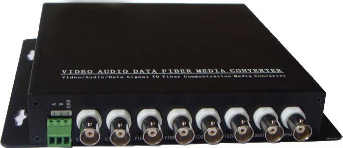8 Channels Digital Video / Audio / Data Optic Transmitter And Receiver