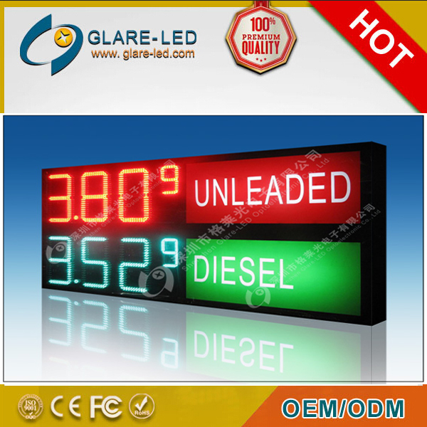 high brightness led gas price sign for gas station