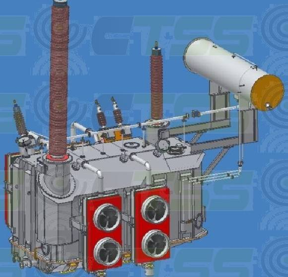 500kV Oil Immersed Single Phase Power Transformer