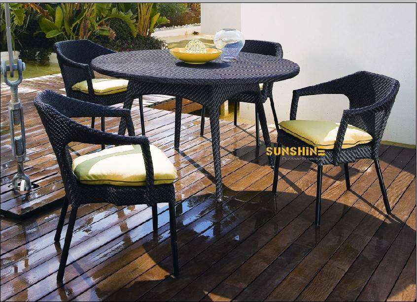 KD Dining Table Outdoor Rattan furniture FCO-2015