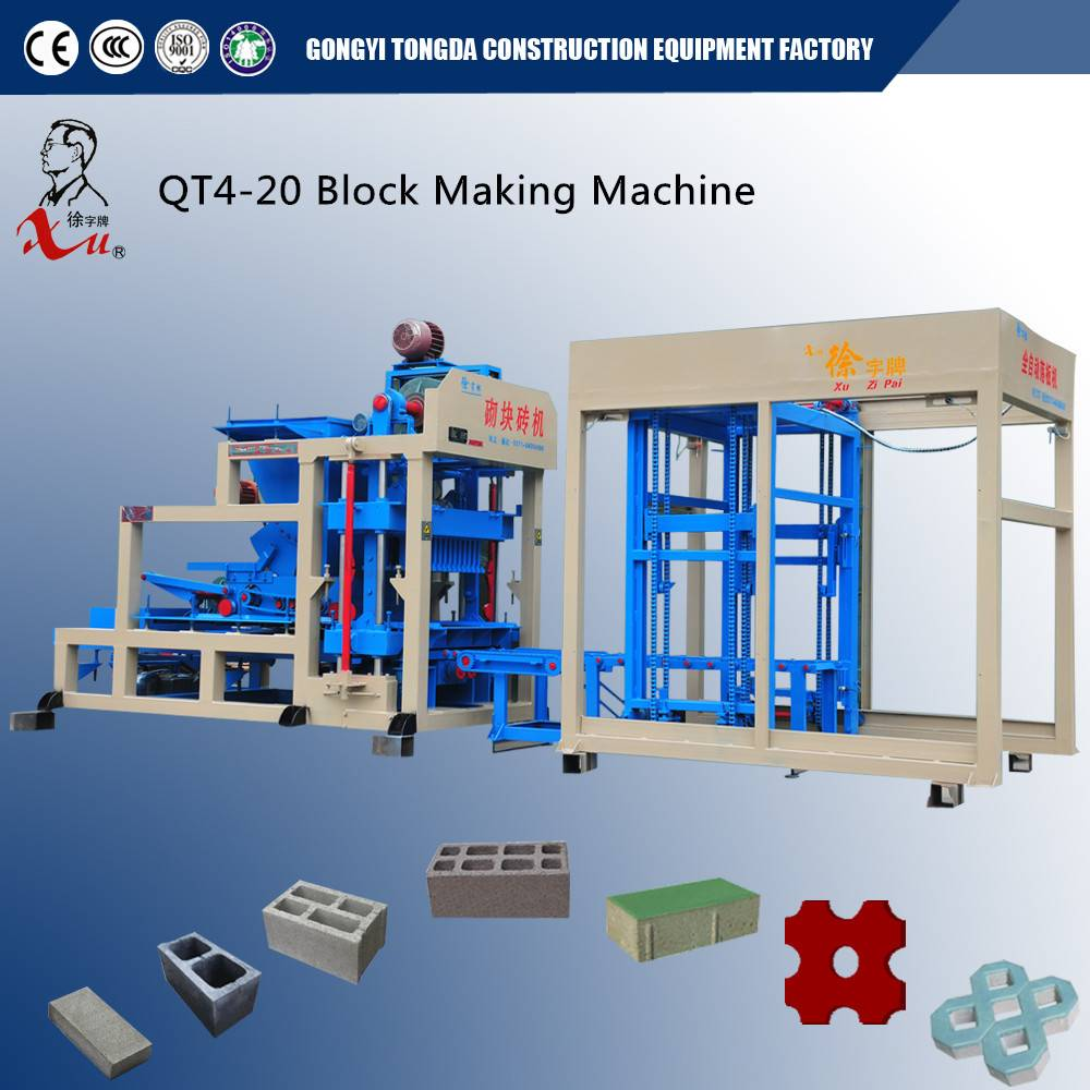 Automatic Concrete Paving Block Making Machine