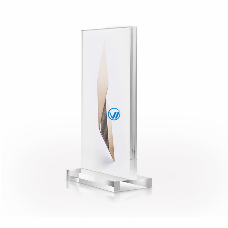 Shenzhen factory retail A4 acrylic peer holder sign holder brochure holder for mobile phone store