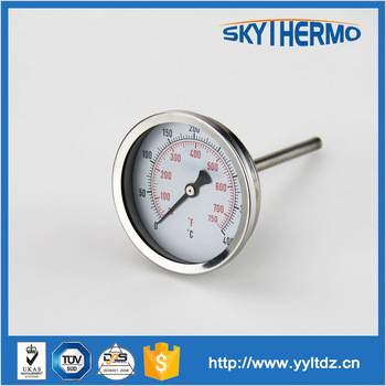 fever temperature stainless steel oven industrial bimetallic dial thermometer stove