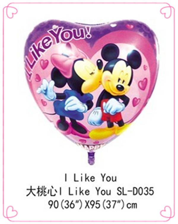 mickey and minnie foil balloon