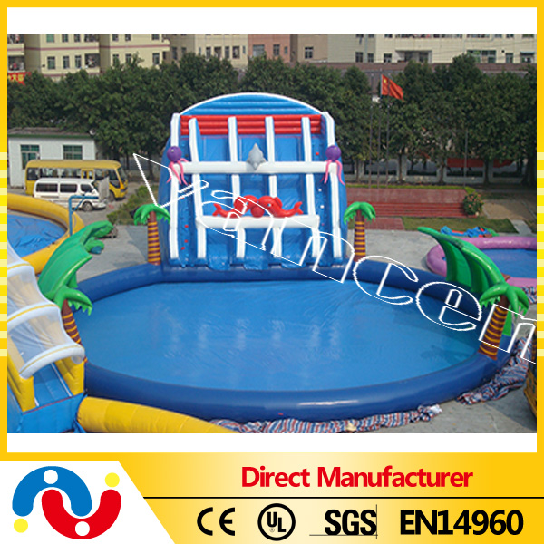 giant adult size inflatable water slide,inflatable bounce slide combo for water park