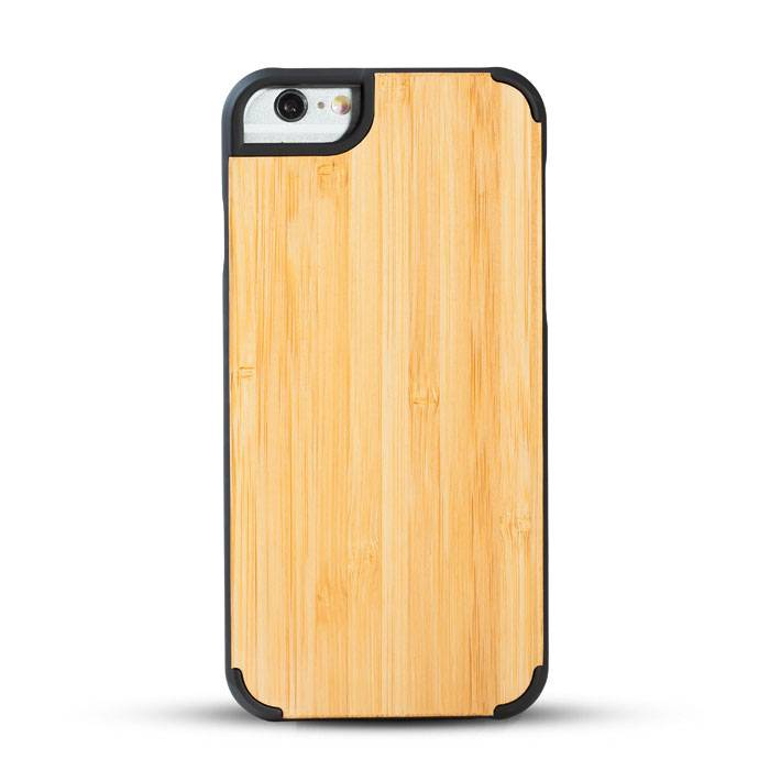 New design premium wood phone case solid phone protective cord back high quaility Iphone6/6P Bamboo