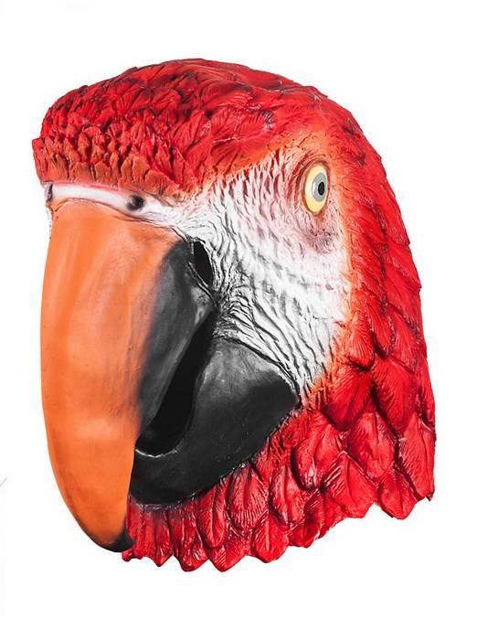 Youtumall Realistic Red Latex Ara Full Mask Costume