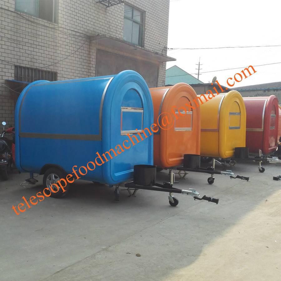 Customize mobile food trailer fryer fast food cart crepe street food truck coffee kiosk ice cream st