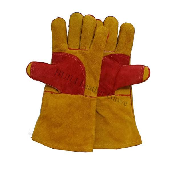 Whole sale cheap price cow split leather welding glove