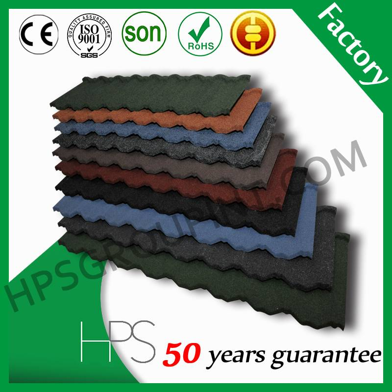 Wholesale stone coated metal roofing tiles manufacture