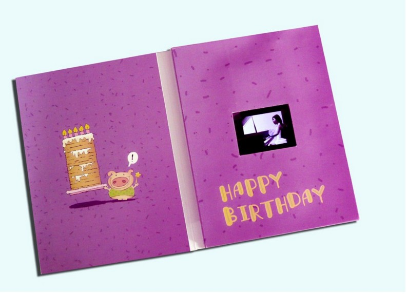 video gift card/business promoting gift/voice card/