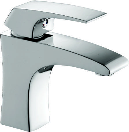 brass chrome single handle wash basin faucet