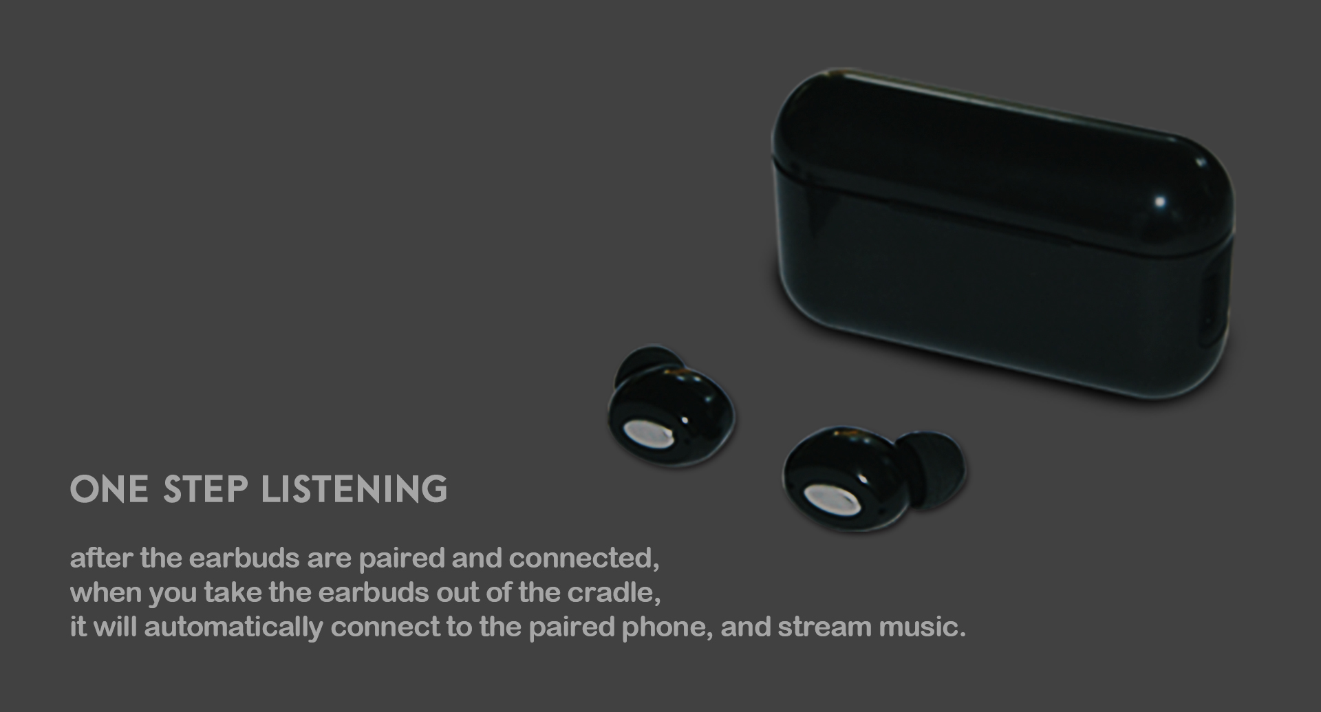 truly wireless earbuds Built-in Mic for iPhone and Android Smart Phones