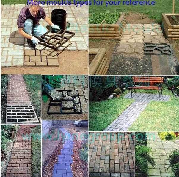 Walkway Stamp Concrete Block Plastic Mould Paver Rubber