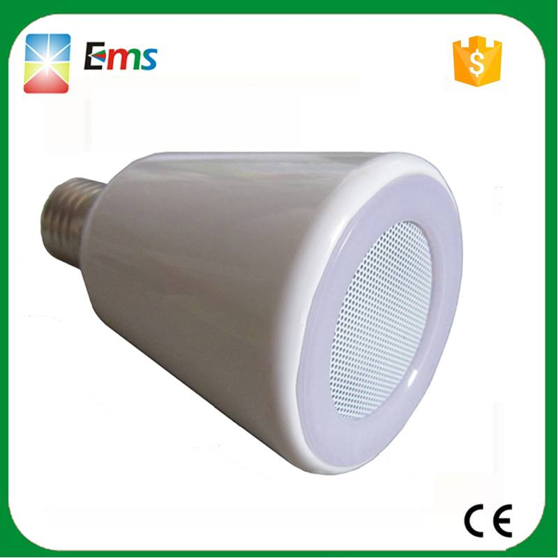 015 new led bulb bluetooth speaker wireless audio lamp white led lamp light E27 led bluetooth speake