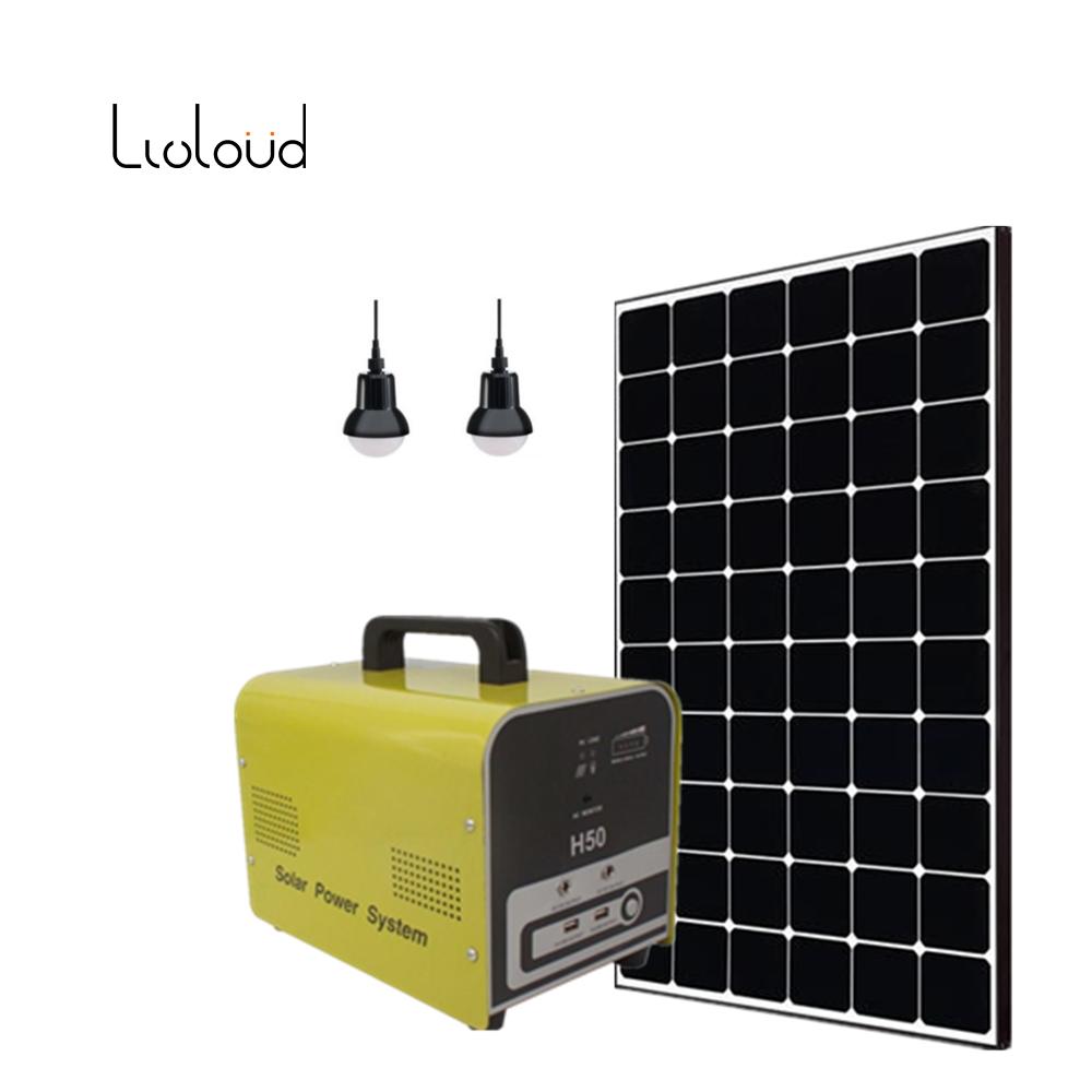150W LiFePO4 Lithium Battery Portable Solar Home Kits