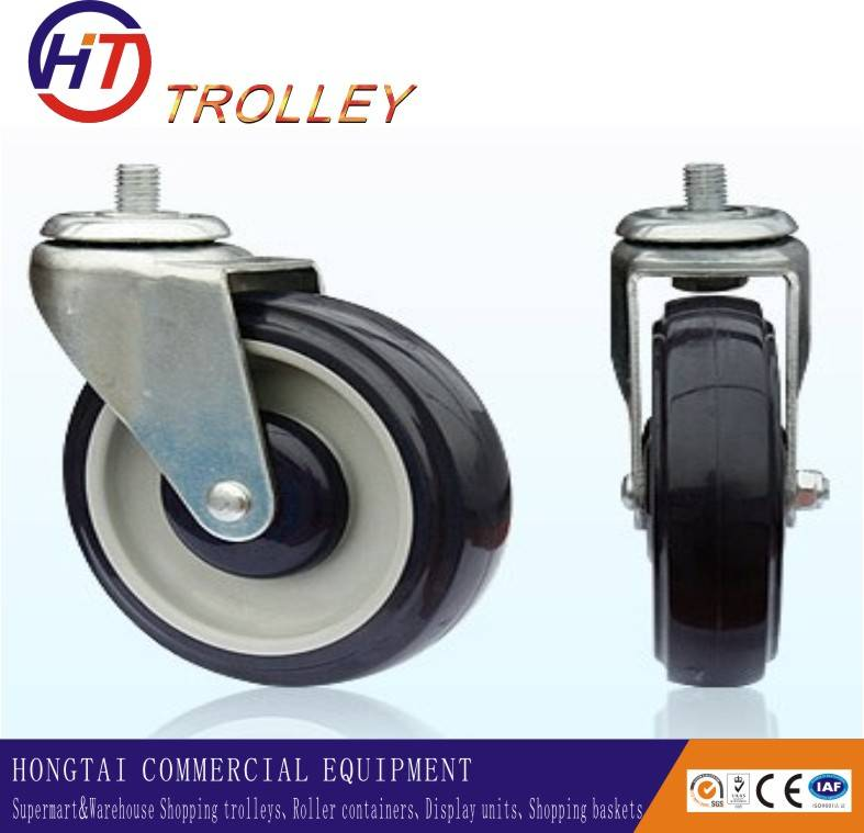 5 inch TPR double bearing  trolley caster wheels wholesale