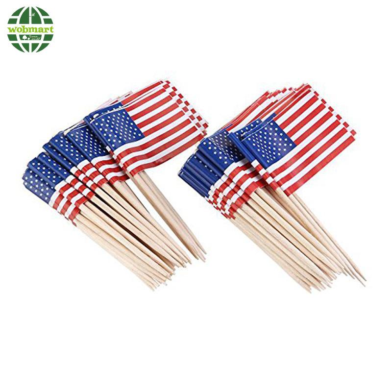 Decorative Customized Flag Toothpicks