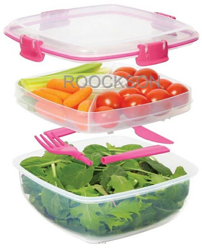 Double Plastic Crisper Food Container Plastic Storage Box