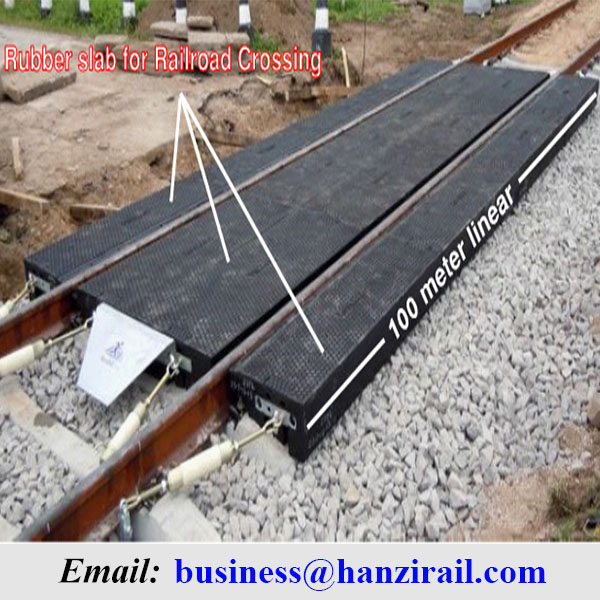 Railway Rail Rubber Level Crossing Plate