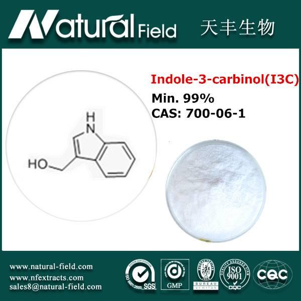 High gradeIndole-3-carbinol(I3C) powder min.99%