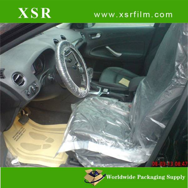 Economic Cheap clear transparent disposalbe PE plastic car seat cover for refinishing&auto care from