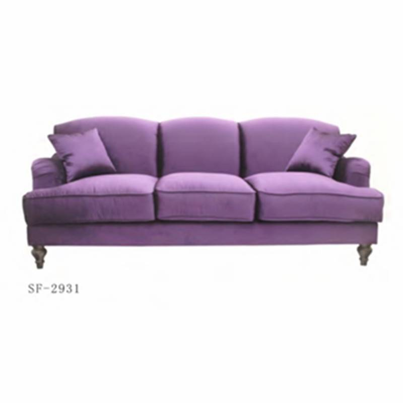 PopularStyle Purple Color Fabric Living Room Sofa Sf-2931