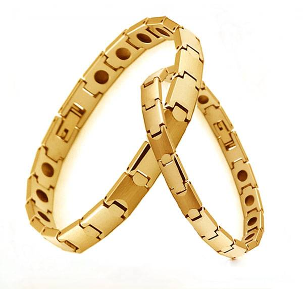 men's and women's gold tungsten bracelet
