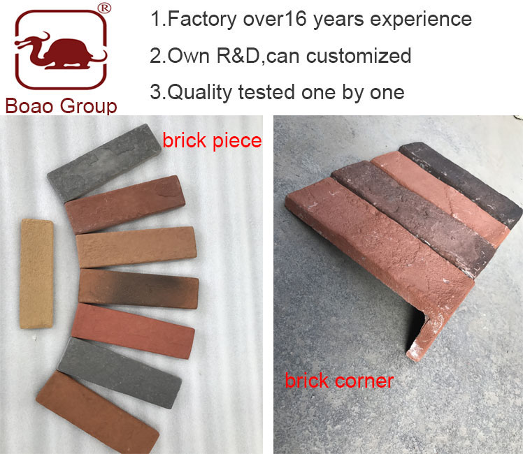 Boao brand decorative cement faux brick veneer panels