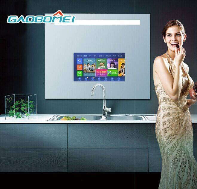 """Gaobomei 32"""" TV Mirror Top Sale 1080P Android Magic Mirror TV LED Smart TV Mirror Used Home, Luxury"""