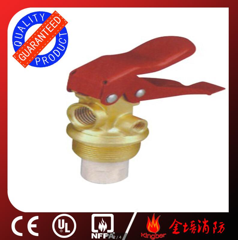 1-2KG Red Color Brass Body Material Dry Powder Extintor Valve with Chromium Plated and CE Approval