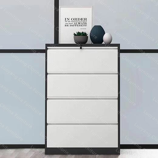 Office Metal Lateral 4 Drawers Cabinet Steel Filing Cabinet