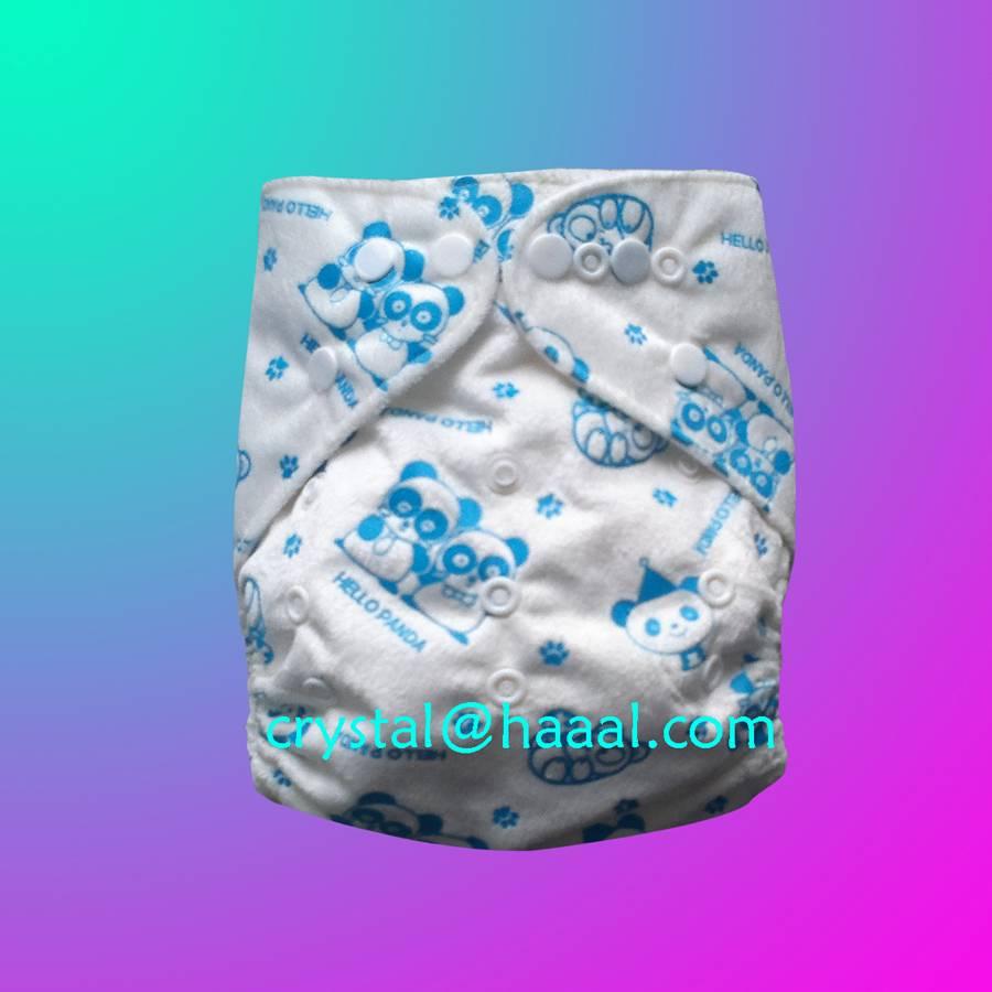Panda printed minky diaper