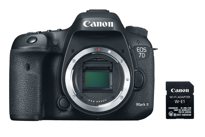 Canon EOS 7D Mark II Digital SLR camera Body with Wi-Fi Adapter Kit