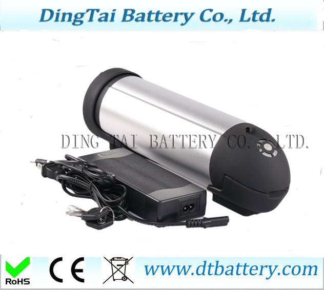 Downtube mounted bottle lithium battery 36V 15Ah ebike battery by samsung cells with charger