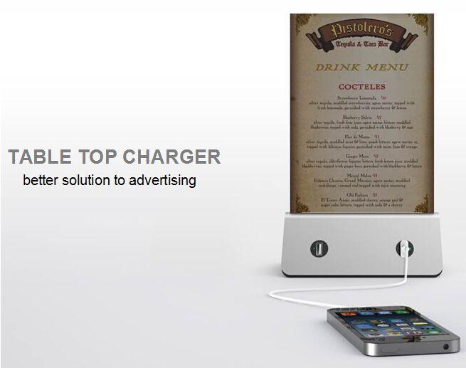 Wholesale large capacity Bar Cafe Restaurant desktop menu coffee power bank 10000mah