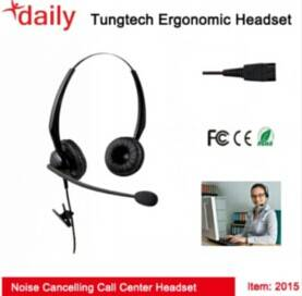 Binaural Version Call Center Headset With Noise-cancelling Microphone,CE&FCC Approvals