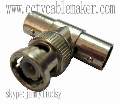 BNC T Type adapter, CCTV connector, Coaxial connector