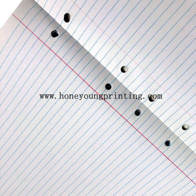 7mm 8mm ruled notebook for student with perforation