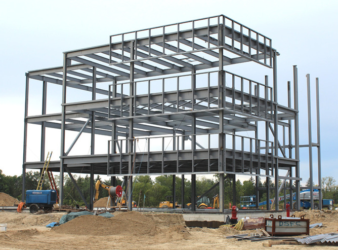 steel structural warehouse plans