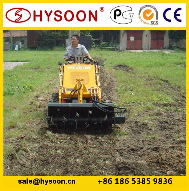 mini skid steer loader with cultivator skid steer attachment