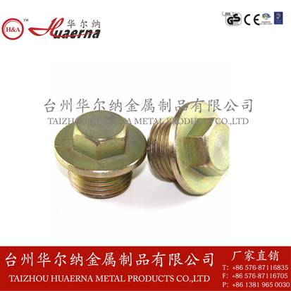 Hexagon brass oil drain plug DIN910