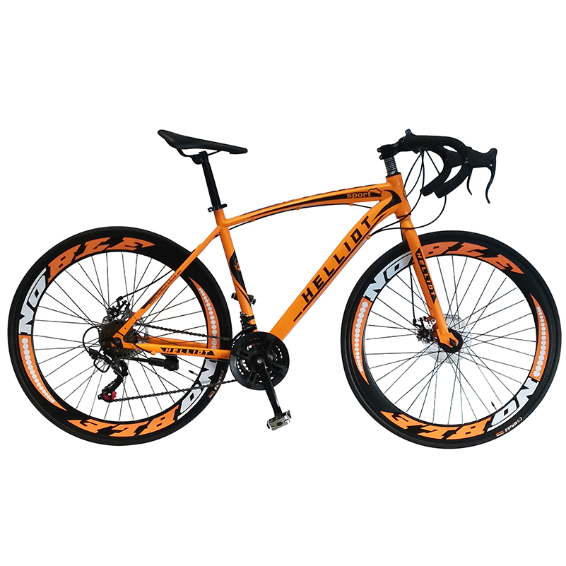 Road bicycle race bicycle - Helliot Bikes sport orange.