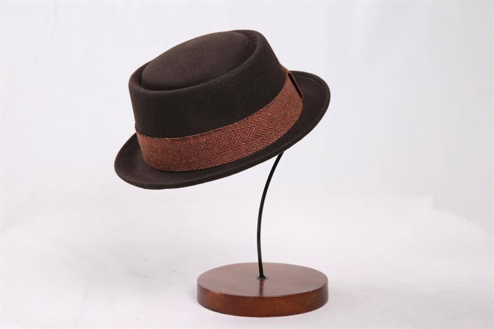 Pork Pie Wool Felt Hat (FW017033)